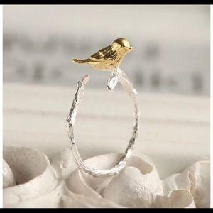 Gold & Silver Bird Ring